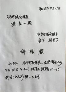 ゆみこの日記 | 7月31日に議員辞...